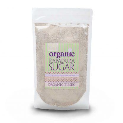 500 gram bag of Organic Times Rapadura Sugar