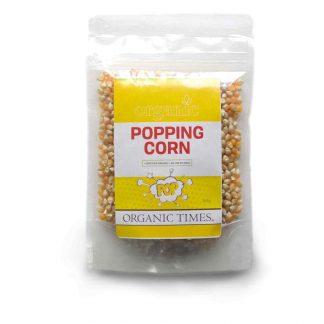 200 gram bag of Organic Times Popping Corn Popcorn