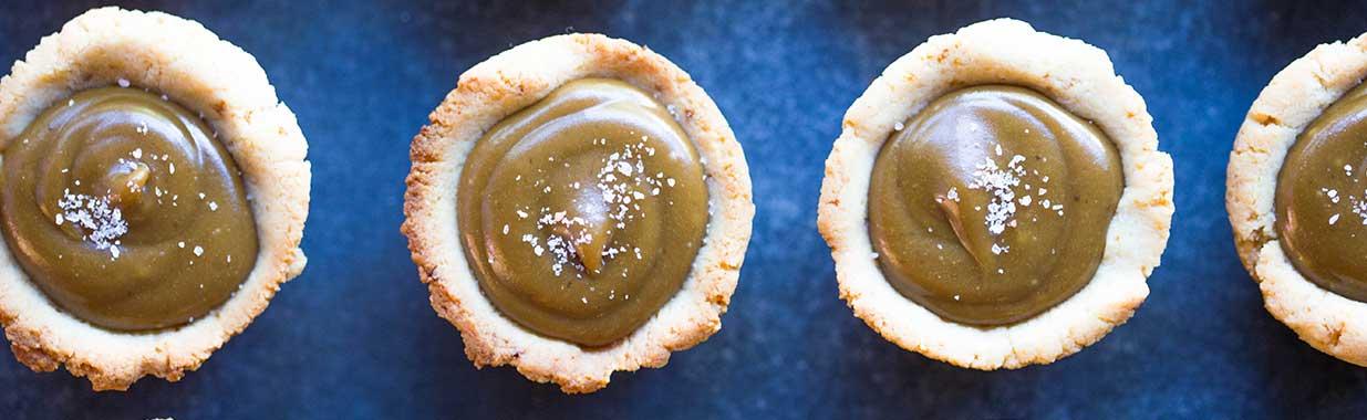 4 salted caramel tarts