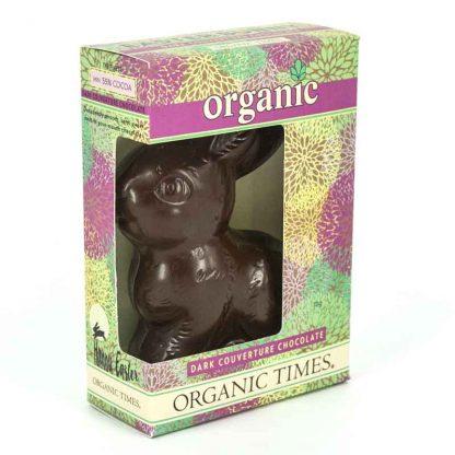 An Organic Times Dark Chocolate Easter Bunny