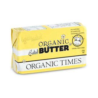 Organic Times grass-fed salted butter pat
