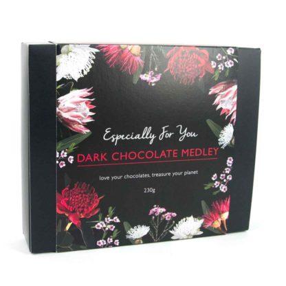 A box of organic times dark chocolate medley