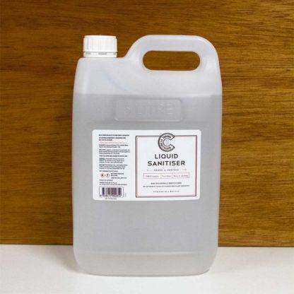 a 5 litre bottle of bulk liquid sanitiser
