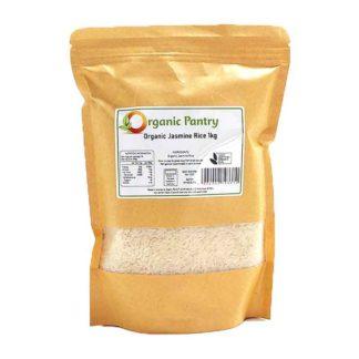 a bag of organic jasmine rice