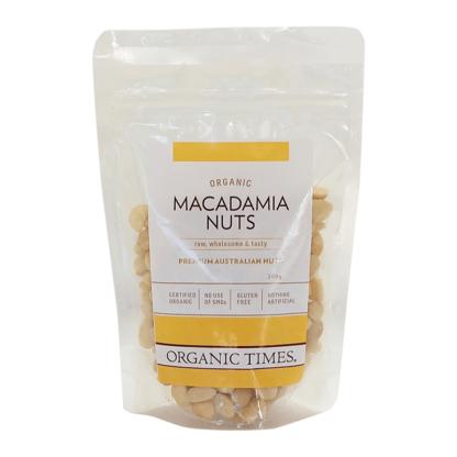 a bag of Australian raw organic macadamias
