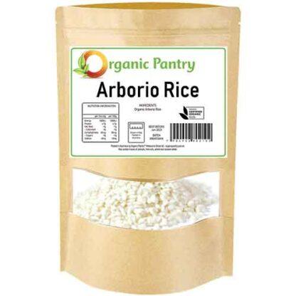 1 kilogram bag of organic arborio rice