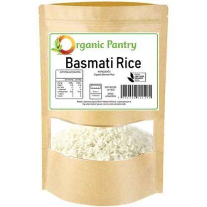 1 kilogram bag of organic basmati rice