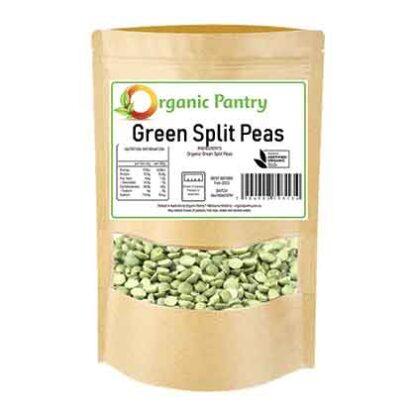 500 gram bag of organic green split peas