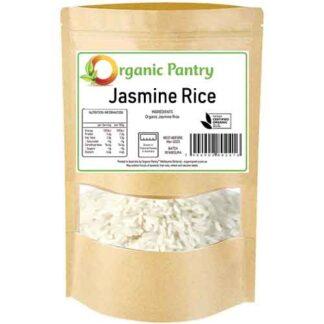 1 kilogram bag of organic jasmine rice