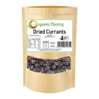 a bag of organic dried currants