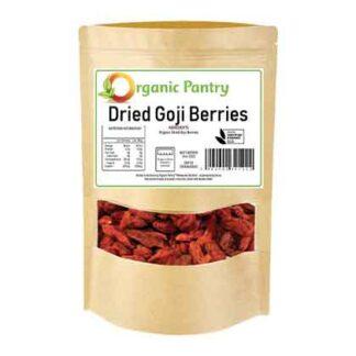 a bag of organic dried goji berries