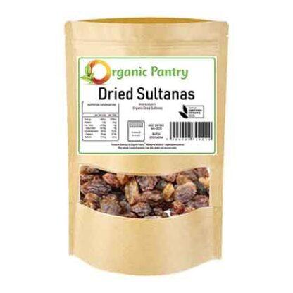 a bag of organic dried sultanas