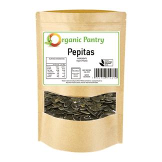 a bag of organic pepitas pumpkin seeds