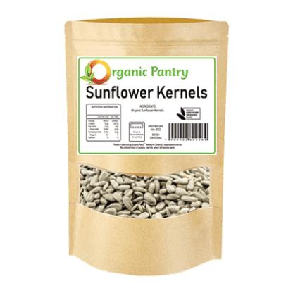 a bag of organic sunflower kernels