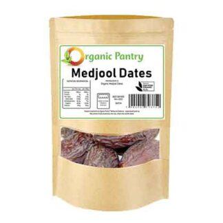 a bag of organic medjool dates